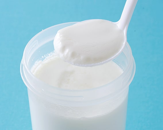 低温殺菌牛乳で作ったケフィアヨーグルト
