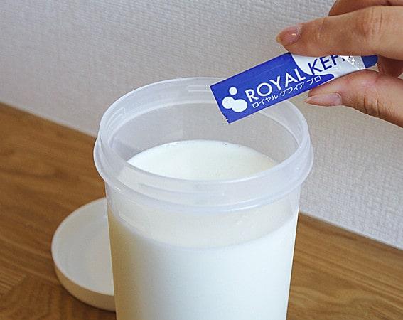 牛乳500mlとたね菌1袋