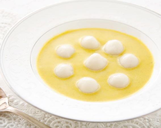 夏野菜の冷製ヨーグルトスープ