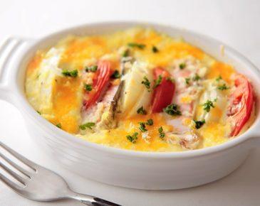 水切りヨーグルトで作る鮭とチーズのオーブン焼き